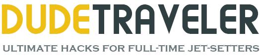 Dude Traveler | Ultimate Travel Hacks for Full-Time Jet Setters Logo